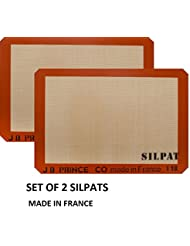 Silpat Premium Silicone Baking Mat, Half Sheet Size, 11-5/8 x 16-1/2 (Pack of 2) Non Stick