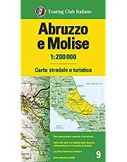 Abruzzo e Molise 1:200.000. Carta stradale e turistica. Ediz. multilingue