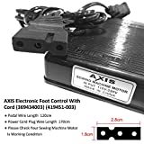 AXIS Electronic Foot Control with Cord 369434003, 419451-003 Serger Sewing Machine Singer Foot Pedal Variable Speed Controller for Juki Babylock Bernette Consew Elna Euro-Pro Replacement