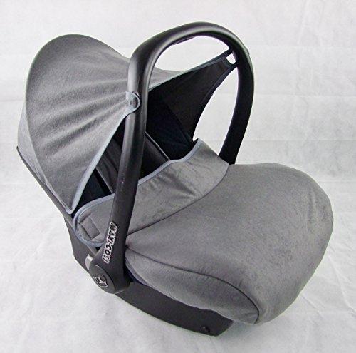 Babys-Dreams kompl. Ersatzbezug für Maxi-Cosi CabrioFix 7 tlg. **6 FARBEN** *NEU* Bezug für Babyschale Sommerbezug Cabrio Fix (Marineblau/Grau)
