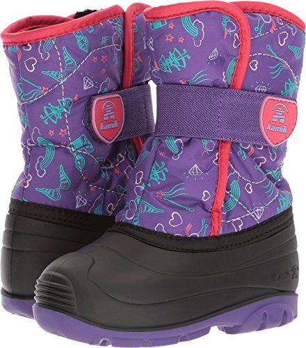 Kamik Children's Snow Boots - Kamik Girls' Snowbug4 Snow Boot, Purple/Red, 10 Medium US Toddler