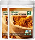 Organic Turmeric Root Powder (2lb) by Naturevibe Botanicals, (2 Pack of 1lbs each) | Gluten Free & Non-GMO Verified | Contains Curcumin