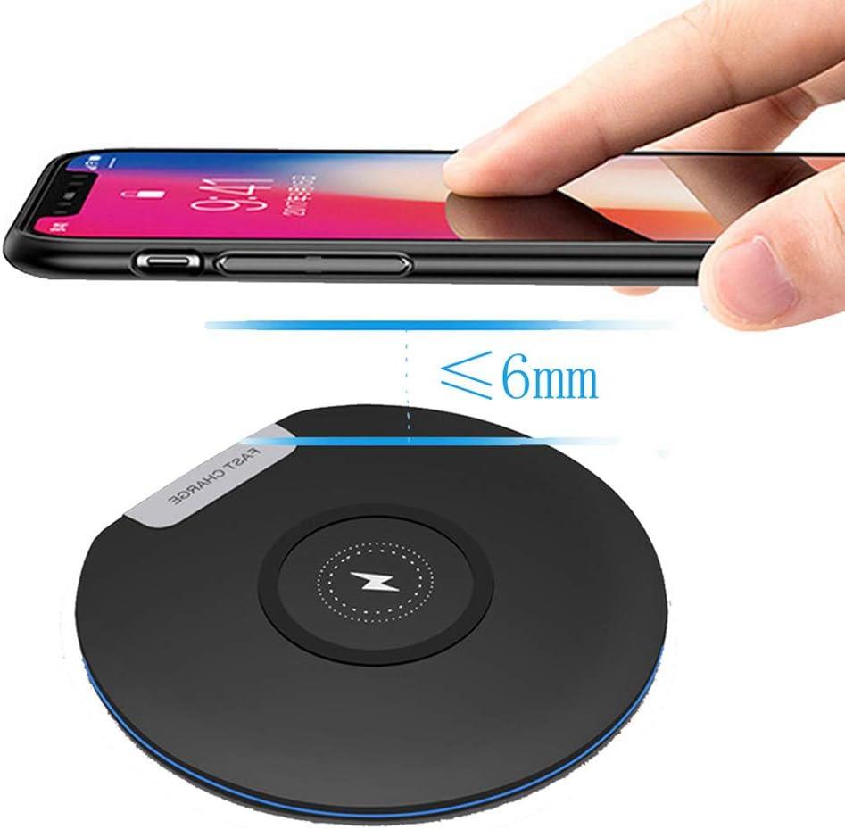 MeterMall Para Huawei P30 Pro Mate20 Pro Samsung S10 S9 S7 S8 iPhone XS MAX X Xiaomi Mix 2S Mix 310W Cargador inalámbrico Qi Cargador rápido Negro
