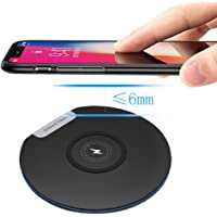 FidgetGear Qi Wireless Charger Fast Charging Pad for Huawei P30 Pro Mate20 Pro Samsung S10 S9 S7 S8 iPhone Xs Max X Xiaomi Mix 2S Mix 310W Black