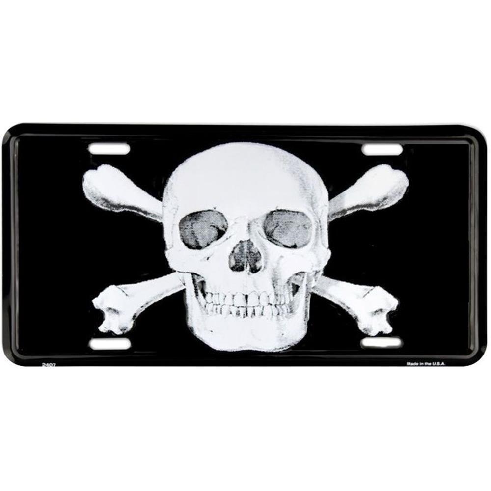 Signs 4 Fun Slps Skull and X Bones License Plate
