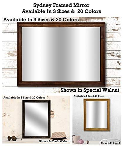 (Vanity Mirror/Wall Mirrors/Bathroom Mirror/Large Wall Mirror/Wood Frame Mirror/Living Room Mirror/Rustic Mirror - Sydney Style Mirror - Available In 3 Size & 20 Colors)