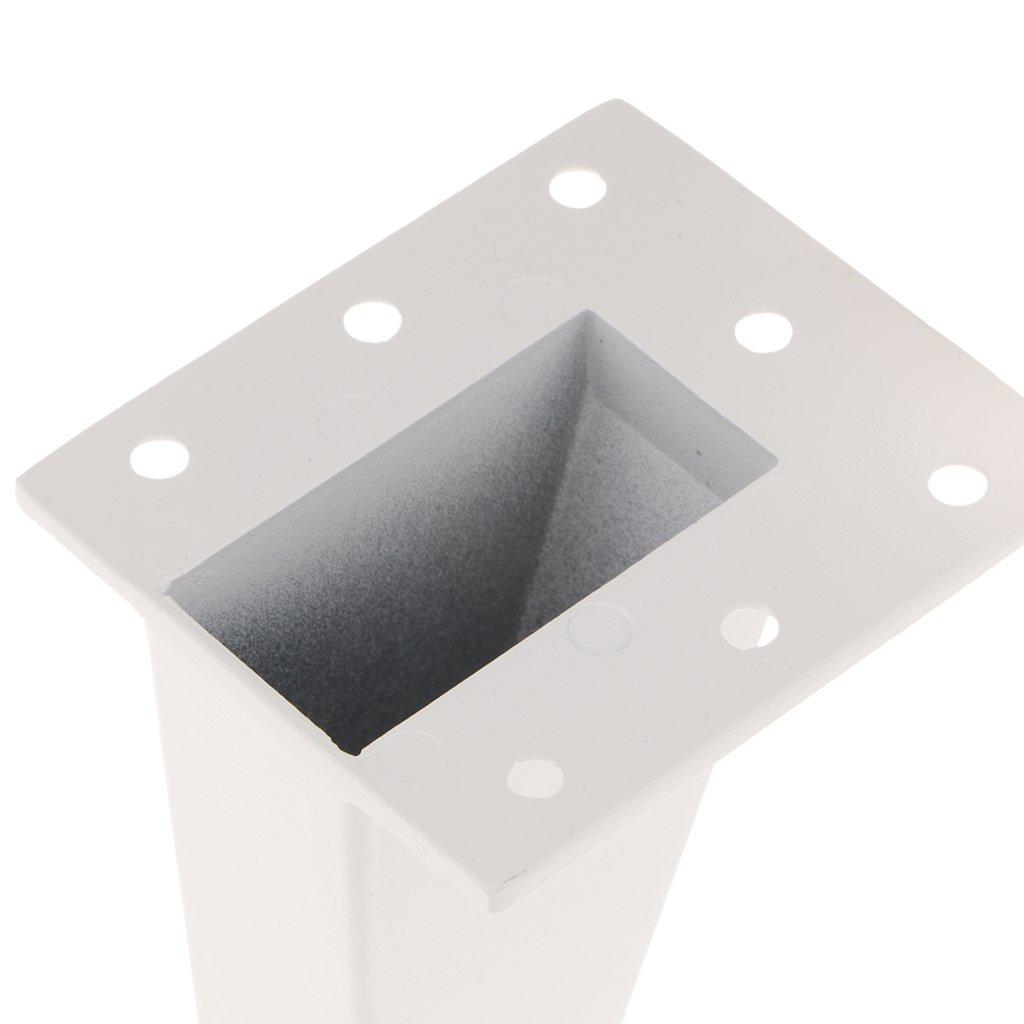 8cm 4Pcs Furniture Durabel Sofa Leg Plinth Feet Holder for Cupboard//Cabinet//Couch White