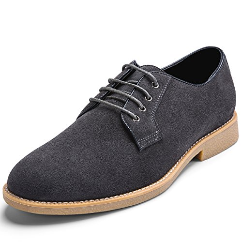 Mens Suede Leather Oxford Shoes Casual Lace up Dress Shoes DAMAI