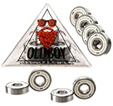 #7: Oldboy Premium Ceramic Bearings with indestructible balls for a faster, smoother ride on your longboard or skateboard