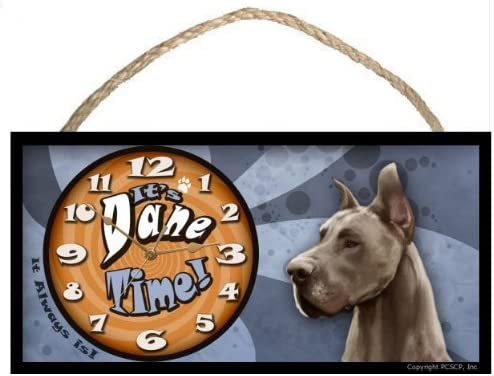 Great Dane It s Dane Time it always is Dog Clock New Made in the USA
