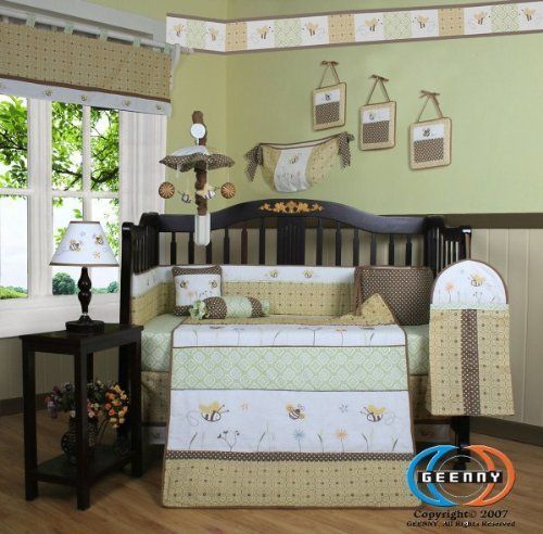 GEENNY Bumble Bee 13PCS CRIB BEDDING - Classic Border Pooh