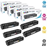 LD Compatible Toner Cartridge Replacement for HP 201X High Yield (2 Black, 1 Cyan, 1 Magenta, 1 Yellow, 5-Pack)