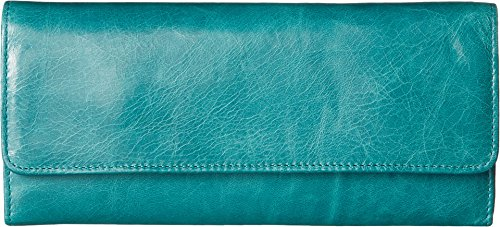 Hobo Womens Leather Sadie Continental Clutch Wallet (Teal Green)