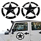 Opar US Army Military Star Car Sticker Decal for Car / Truck / Ford F150 / Jeep Wrangler - 2PCS
