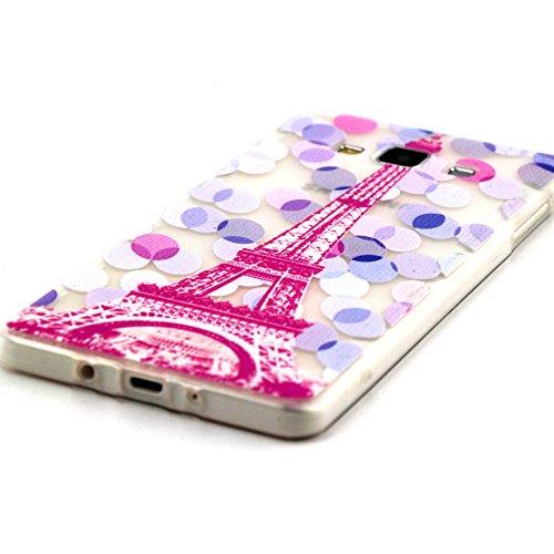 Samsung Galaxy A7 Case, MagicSky Pylon Pattern Slim fit Dust Proof Hybrid Back Case TPU Translucent Showoff Design Case Cover for Samsung Galaxy A7