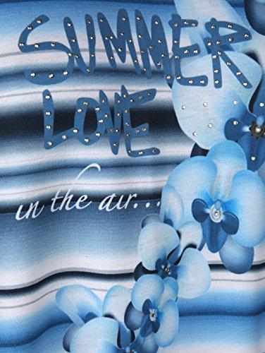 mit in Druckelement Jerseykleid Floralem Kent Damen Laura Marineblau Streifendessin qzXCwZt