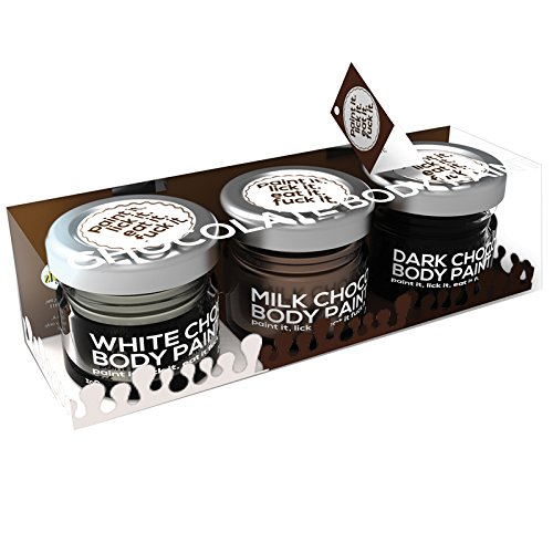 Chocolate Lovers Erotic Chocolate Body Paints - Assorted Flavors - Kit Includes White Chocolate, Milk Chocolate and Dark (Chocolate Fantasy Body)