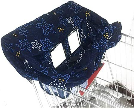 Sanmubo 2-in-1 Shopping Cart Cover High Chair Cover High Chair Cushion Baby Grocery Cart Cover Infant High Chair Cover Safety Harness Cart Cover Toddler Universal Size / Sanmubo 2-in-1 Shopping Cart Cover High Chair Cover High Chai...