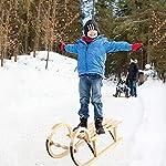 SYXX-Retro-in-Legno-Sci-Addensato-Bambini-for-Adulti-Snowboard-Skis-Sci-di-Babbo-Natale-Slitta-for-Bambini-Ice-Sci-Ispessito-Sci-Pattini-Sci-Regali-di-Natale-Principianti-Sci