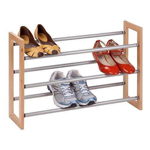 honey-can-do-sho-01372-wood-metal-3-tier-adjustable-metal-shoe-rack