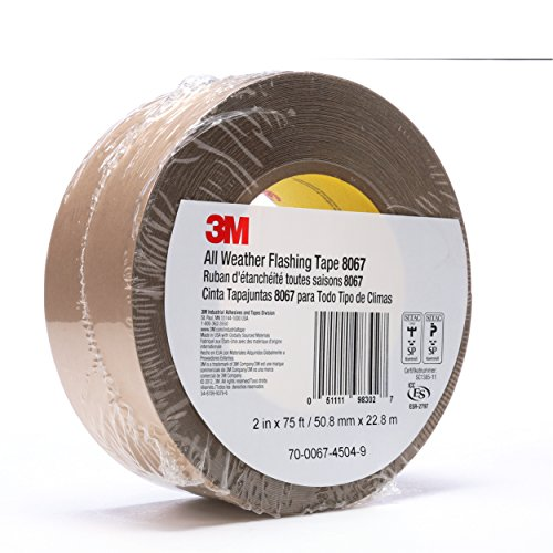 3m all weather flashing tape 8067 tan 2 in x 75 ft slit. Black Bedroom Furniture Sets. Home Design Ideas
