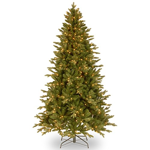 """National Tree 7.5 Foot """"Feel Real"""" Avalon Spruce Tree with 500 Clear Lights, Hinged (PEAV7-309-75) -  National Tree - Drop Ship"""
