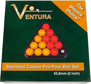 Ventrua Red & Yellow - Juego de Bolas de Billar para mesas de ...