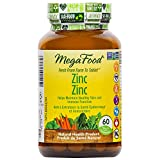 MegaFood - Zinc, Helps Maintain Healthy Skin and Immune Function, 60 Count
