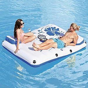 LQH Piscina Gonfiabile Galleggiante Zattere, Aria Divano Floating Poltrona Letto Galleggiante Drifter Piscina Spiaggia… 51VfsqiXAjL. SS300