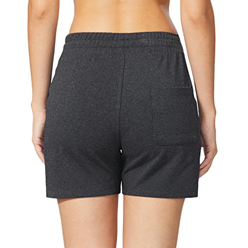 Baleaf Women's Activewear Yoga Lounge Shorts with Pockets Charcoal Size M by Baleaf (Image #4)