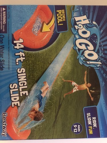 - H20 GO! 14 ft. Single Slide With Drench Pool