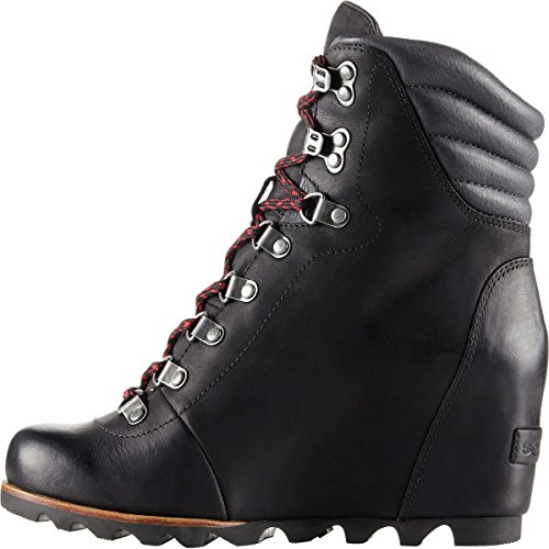 SOREL Women's Conquest Wedge Booties Black/Dark Grey marketable for sale sale shop for many kinds of cheap price clearance 2015 sale in China syjN93