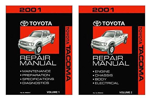 bishko automotive literature 2001 Toyota Tacoma Shop Service Repair Manual Book Engine Drivetrain OEM