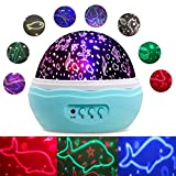 Ocean Projector Night Light,Baby Boys Girls Gifts Lamp,8 Modes Colorful Projector Lamp and Rotation,Sea Animals Show on Nursery Kids Bedroom for Relax