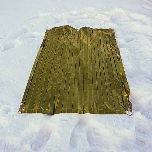 Ultra Thick Two Sided Mylar Survival Blanket (6 Pack) | For Emergency, Bug Out Bags, and Survival Kits.