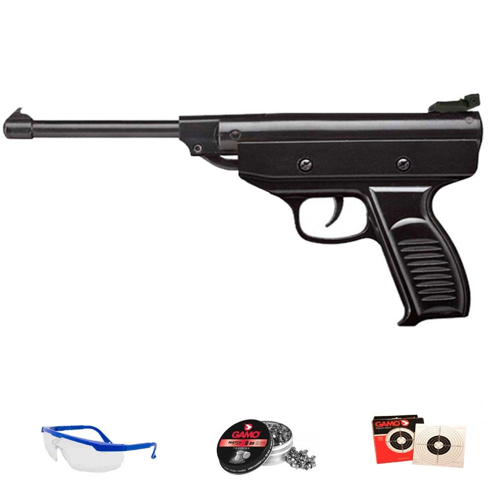 PACK pistola de muelle (aire comprimido) calibre 4.5mm -- Zasdar S3 + accesorios. 5J SPA