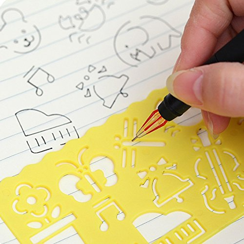 Amazon com: Kids Drawing Template Ruler Drafting Stencil