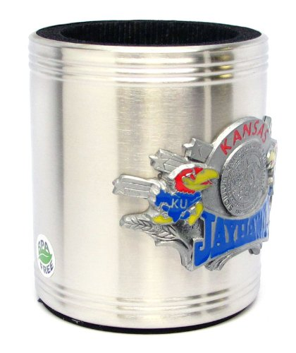 Kansas Jayhawks - College Stainless Steel Beverage Can Cooler