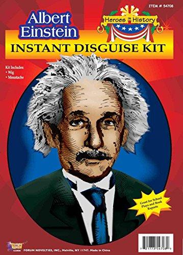 Albert Einstein Costume Wig (Forum Novelties Men's Heroes In History Albert Einstein Costume Wig and Mustache, White, One Size)