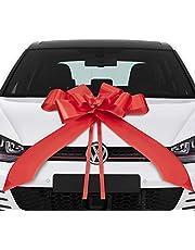 Lisellion® Lus voor auto, 18e verjaardag auto, grote geschenkstrik, reuzenstrik voor auto, rode strik auto, kerstdecoratie, strik auto, grote strik