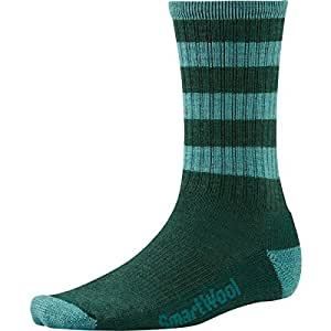 Smartwool Striped Hike Light Crew Performance Socks, Bottle Green, Medium