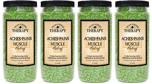 Village Naturals Therapy Aches and Pains Muscle Relief - Bath Salts Menthol