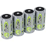 ANSMANN Rechargeable C Batteries 2500mAh maxE ready2use NiMH Professional C Battery pre-charged Power Accu for flashlight etc. (4-Pack)