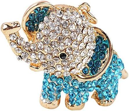 hacoly Elefantes llavero llavero aleaci/ón de acero inoxidable llavero Figura decorativa Mode brillantes Llaveros personalidad Keychain metal llave plana de 11 cm Rosa