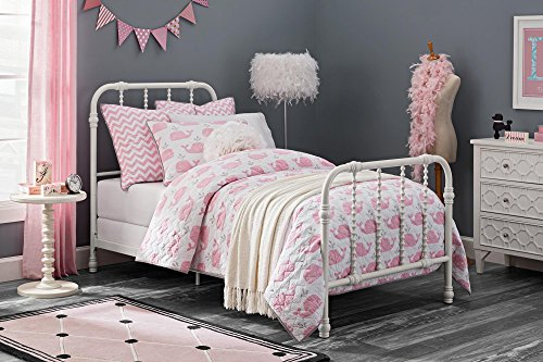 DHP 4097119 Jenny Lind Metal Bed, Twin, White