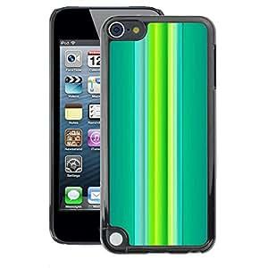 A-type Arte & diseño plástico duro Fundas Cover Cubre Hard Case Cover para Apple iPod Touch 5 (Green Teal Vibrant Spring Lines)