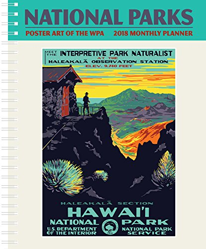 National Parks Poster Art of the WPA Softcover Monthly Planner Calendar 2018