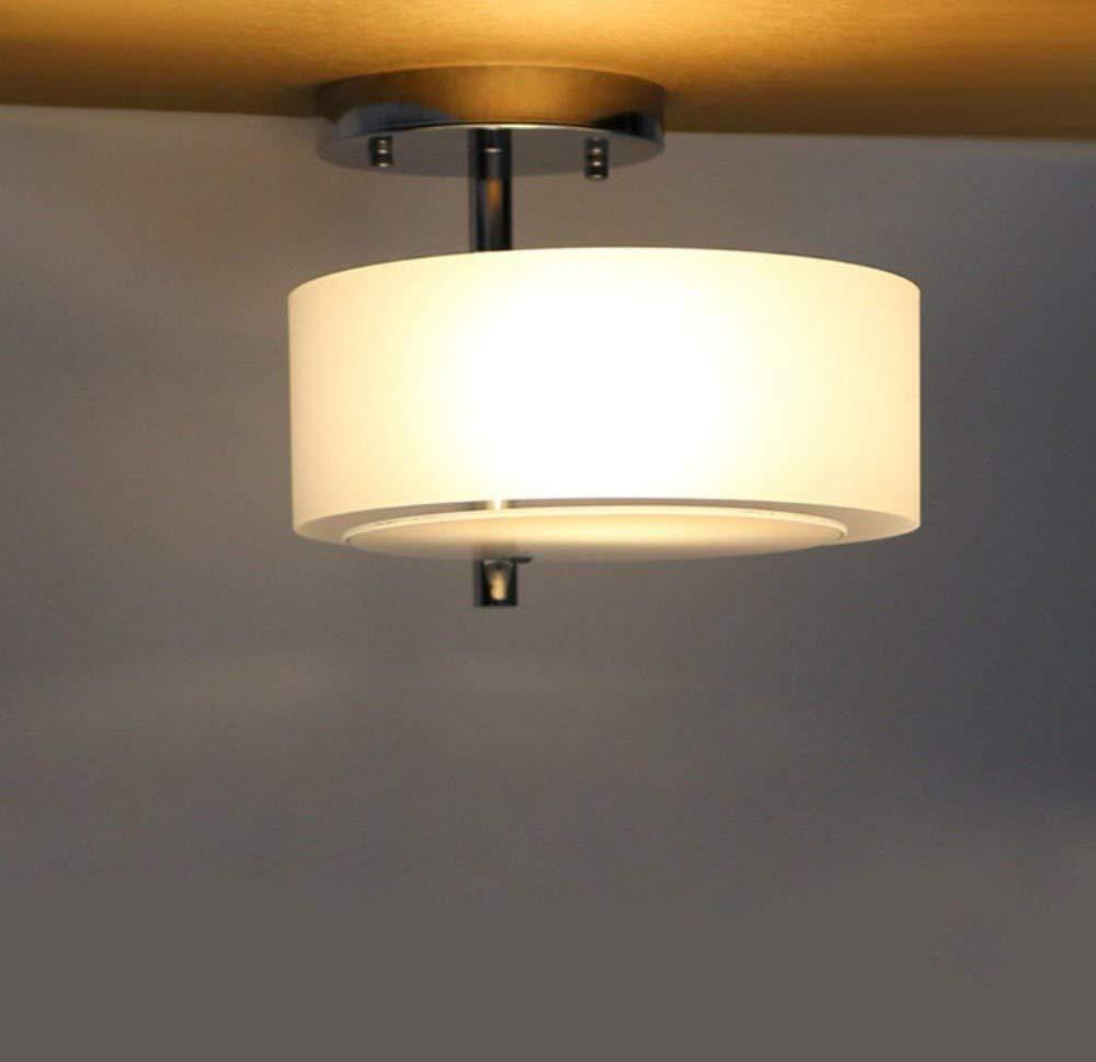Minimalistische Mode Wohnzimmer Flur Flur Deckenleuchte Runde E27 Design Deckenleuchte Metall Glas