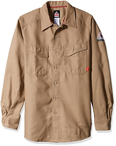 bulwark-mens-iq-series-endurance-work-shirt-khaki-small