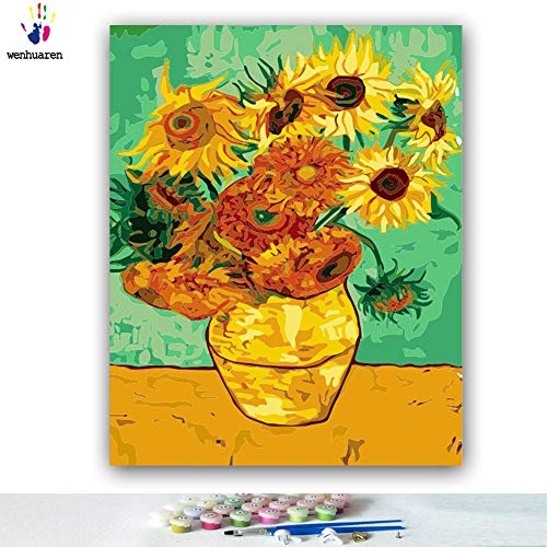 - Van Gogh Sunflower DIY Oil Painting by Numbers Art Paint by Number 1620 Inches Flower no Frame a Still Life Still in The History of Art